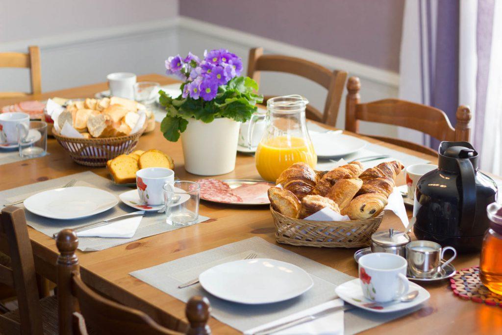 ontbijt in de chambres d'hôtes