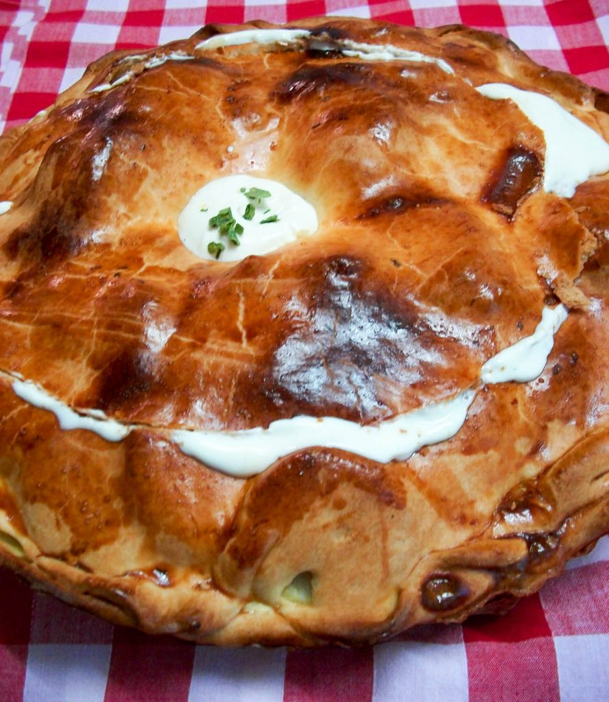 Aardappeltaart uit de Bourbonnais tijdens de table d'hôtes