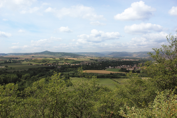 Uitzicht op de Pays Lembronnais