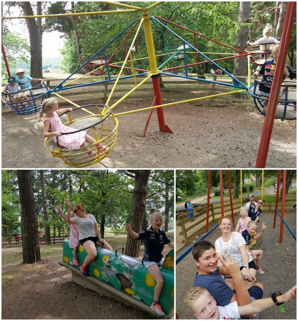 Een van de vele speeltuinen in de dierentuin.